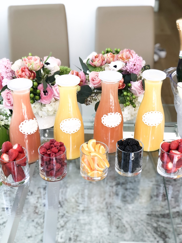 Mimosa Bar from a Garden Birthday Brunch on Kara's Party Ideas | KarasPartyIdeas.com (9)