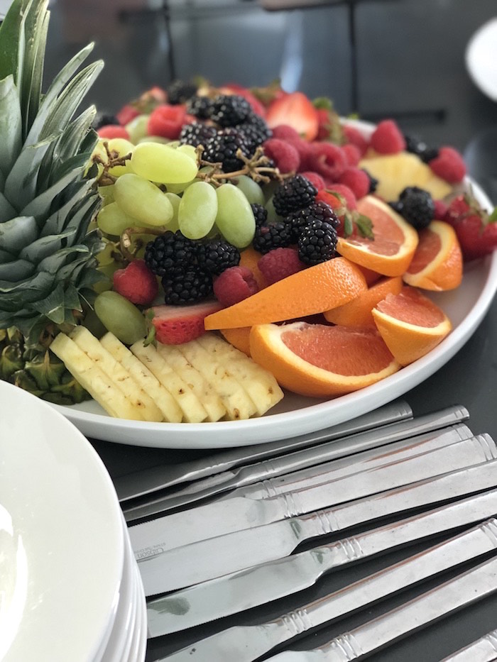 Fruit Plate from a Garden Birthday Brunch on Kara's Party Ideas | KarasPartyIdeas.com (7)