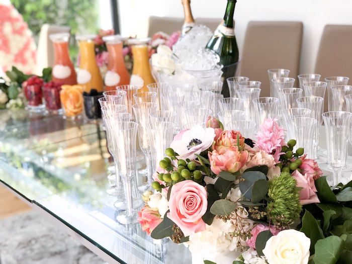 Blooms and Drink Glasses from a Garden Birthday Brunch on Kara's Party Ideas | KarasPartyIdeas.com (6)