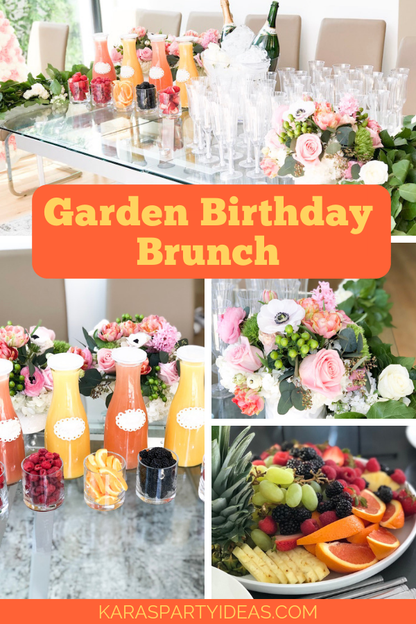 Garden Birthday Brunch via Kara's Party Ideas - KarasPartyIdeas.com