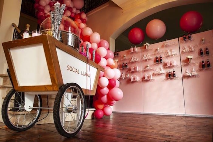 Cotton Candy Cart from a Girly Red & Pink Circus Birthday Party on Kara's Party Ideas | KarasPartyIdeas.com (4)