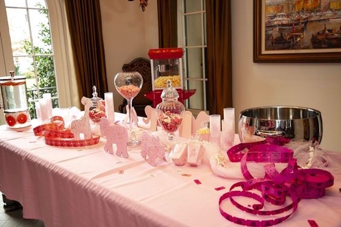 Pink Circus Party Table from a Girly Red & Pink Circus Birthday Party on Kara's Party Ideas | KarasPartyIdeas.com (19)