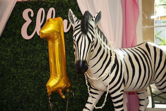 Zebra Prop from a Girly Red & Pink Circus Birthday Party on Kara's Party Ideas | KarasPartyIdeas.com (18)