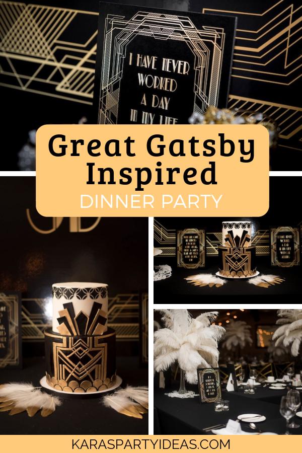 Great Gatsby Inspired Dinner Party via Kara's Party Ideas - KarasPartyIdeas.com