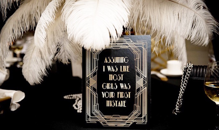Roaring 20's Party Print from a Great Gatsby Inspired Dinner Party on Kara's Party Ideas | KarasPartyIdeas.com (4)