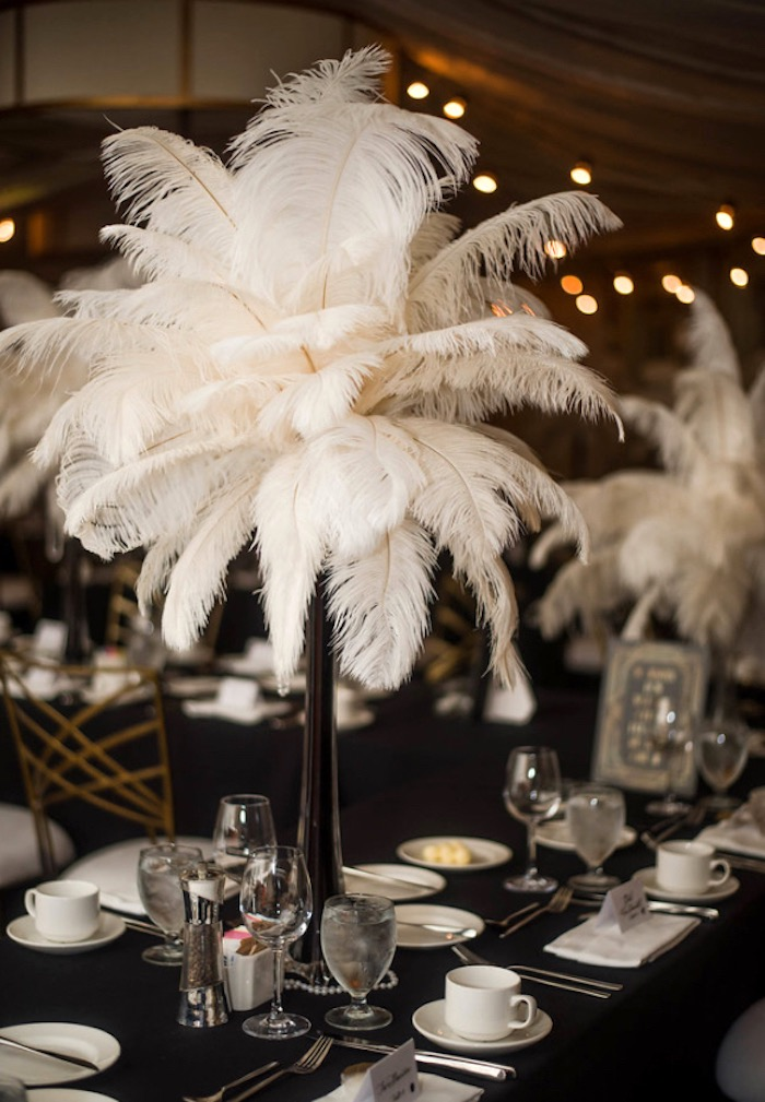 Great Gatsby Dining Table from a Great Gatsby Inspired Dinner Party on Kara's Party Ideas | KarasPartyIdeas.com (14)