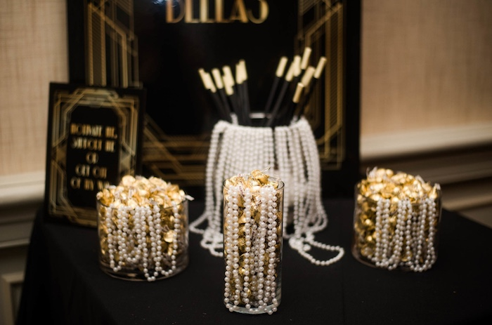 Pearls & Favors from a Great Gatsby Inspired Dinner Party on Kara's Party Ideas | KarasPartyIdeas.com (12)
