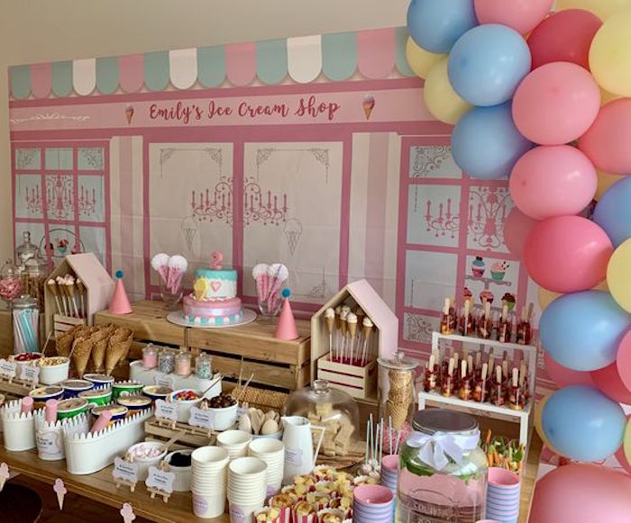 Ice Cream Shop Birthday Party on Kara's Party Ideas | KarasPartyIdeas.com (12)