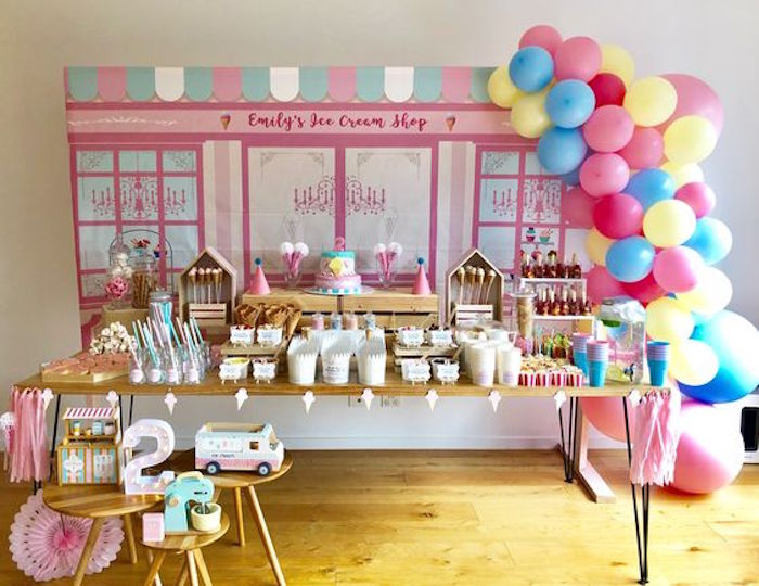 Ice Cream Shop Birthday Party on Kara's Party Ideas | KarasPartyIdeas.com (8)