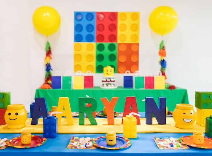 LEGO Birthday Party on Kara's Party Ideas | KarasPartyIdeas.com (15)