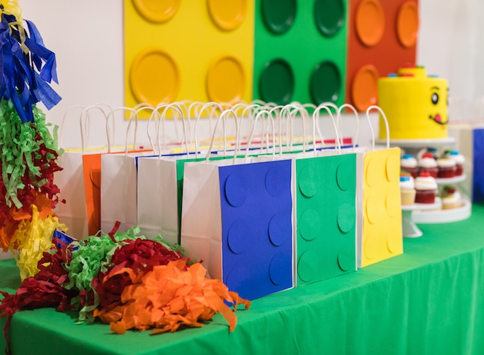Lego Favor Bags from a LEGO Birthday Party on Kara's Party Ideas | KarasPartyIdeas.com (9)