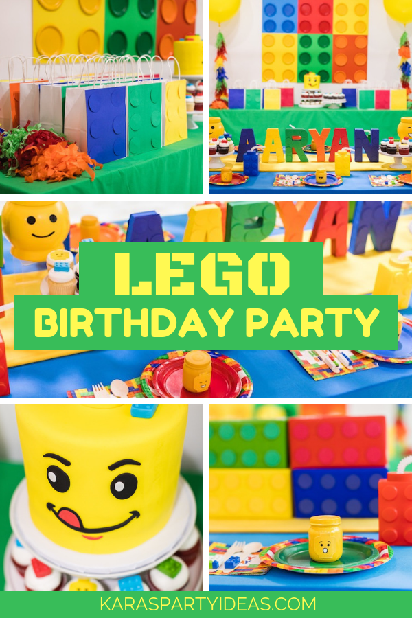 LEGO Birthday Party via Kara's Party Ideas - KarasPartyIdeas.com