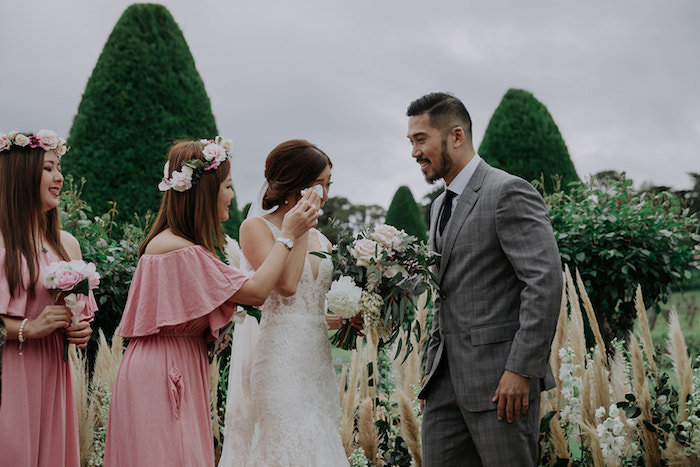 Happy Tears from a Malaysia to Melbourne Romantic Destination Wedding on Kara's Party Ideas | KarasPartyIdeas.com (20)