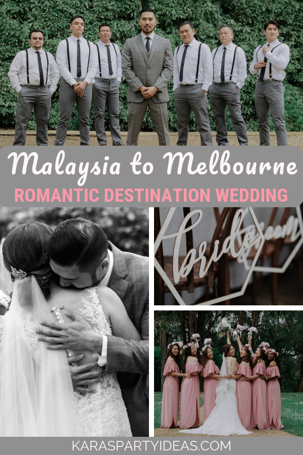 Malaysia to Melbourne Romantic destination wedding via Kara's Party Ideas - KarasPartyIdeas.com