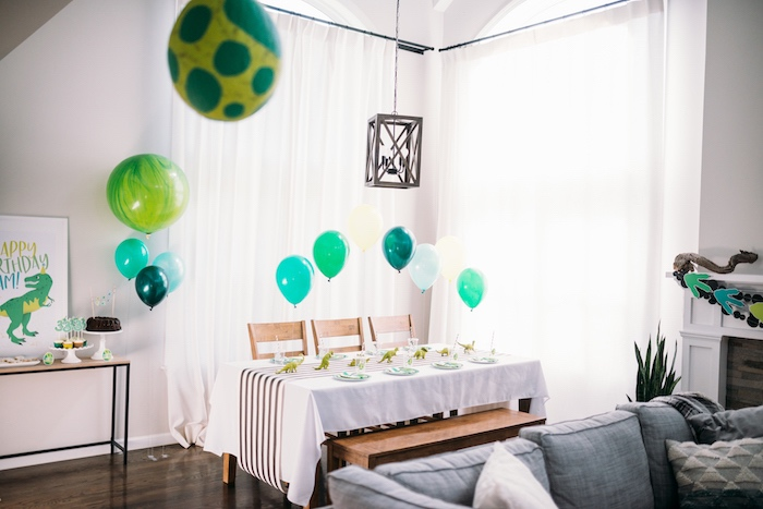 Modern Dinosaur Birthday Party on Kara's Party Ideas | KarasPartyIdeas.com (15)