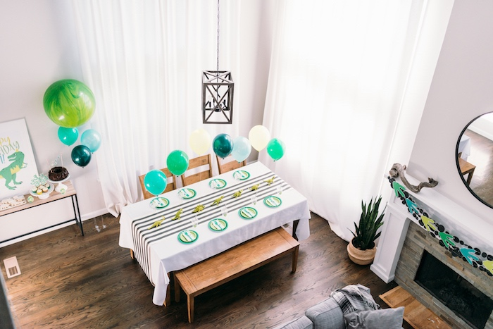 Modern Dinosaur Birthday Party on Kara's Party Ideas | KarasPartyIdeas.com (13)