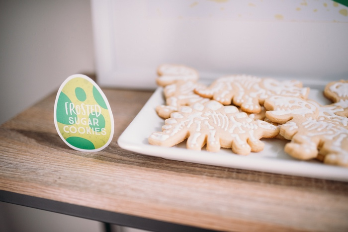 Dinosaur Fossil Sugar Cookies from a Modern Dinosaur Birthday Party on Kara's Party Ideas | KarasPartyIdeas.com (30)