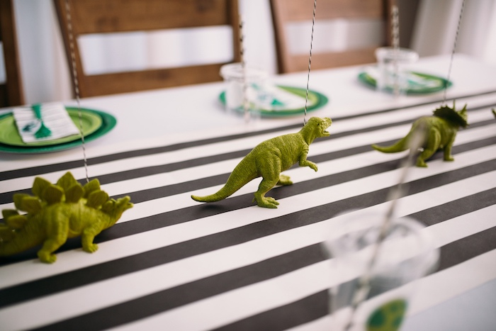 Plastic Toy Dinosaur - Table Decorations from a Modern Dinosaur Birthday Party on Kara's Party Ideas | KarasPartyIdeas.com (5)
