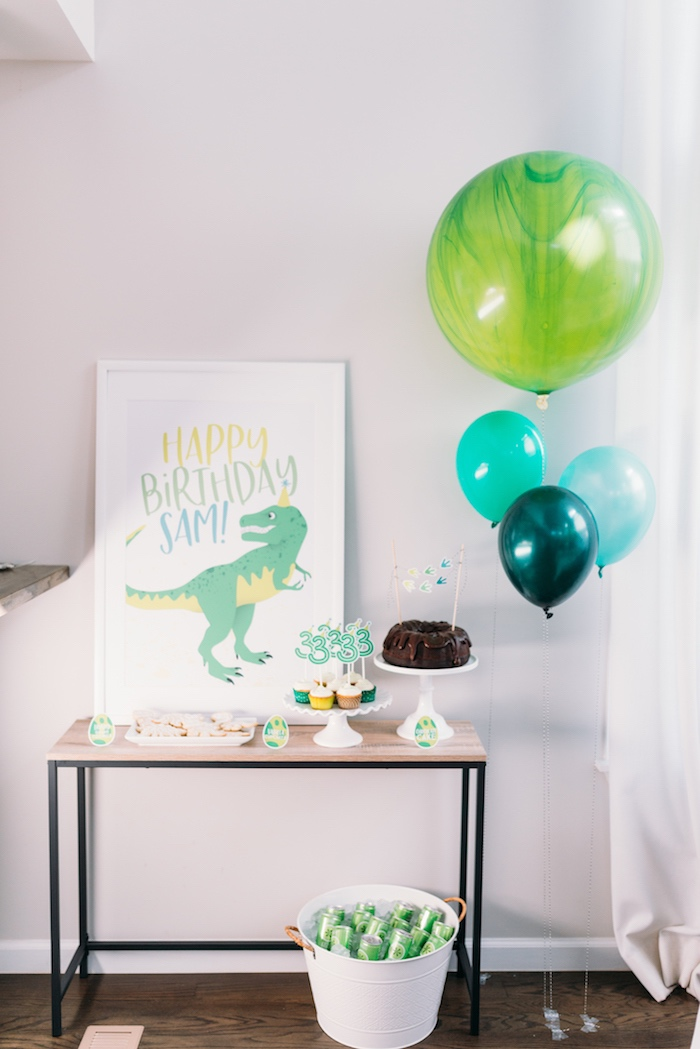 Modern Dinosaur Birthday Party on Kara's Party Ideas | KarasPartyIdeas.com (4)