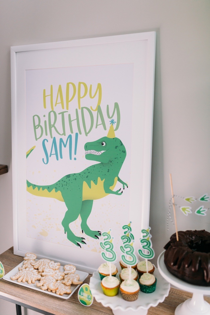 Dinosaur-inspired Dessert Table + Print from a Modern Dinosaur Birthday Party on Kara's Party Ideas | KarasPartyIdeas.com (27)