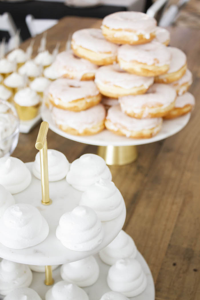 White Meringues from a Modern Narwhal Winter Wonderland Party on Kara's Party Ideas | KarasPartyIdeas.com (7)