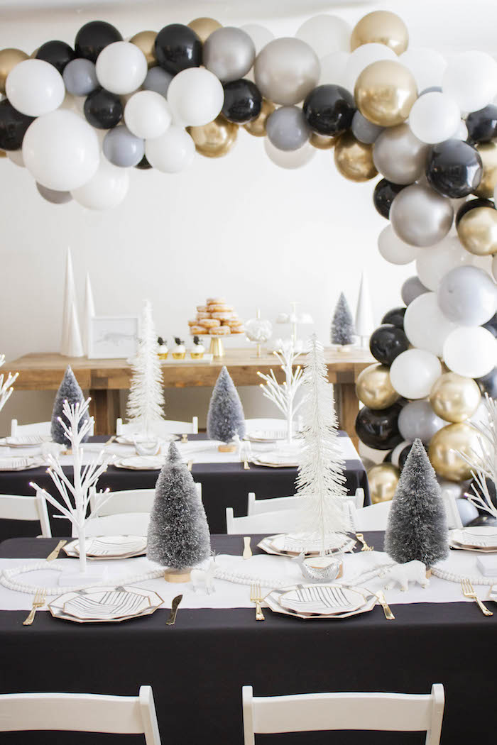 Modern Narwhal Winter Wonderland Party on Kara's Party Ideas | KarasPartyIdeas.com (6)