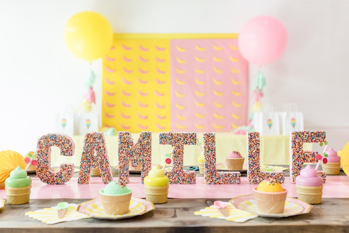 Ice Cream Party Table from a Museum of Ice Cream Inspired Birthday Party on Kara's Party Ideas | KarasPartyIdeas.com (15)