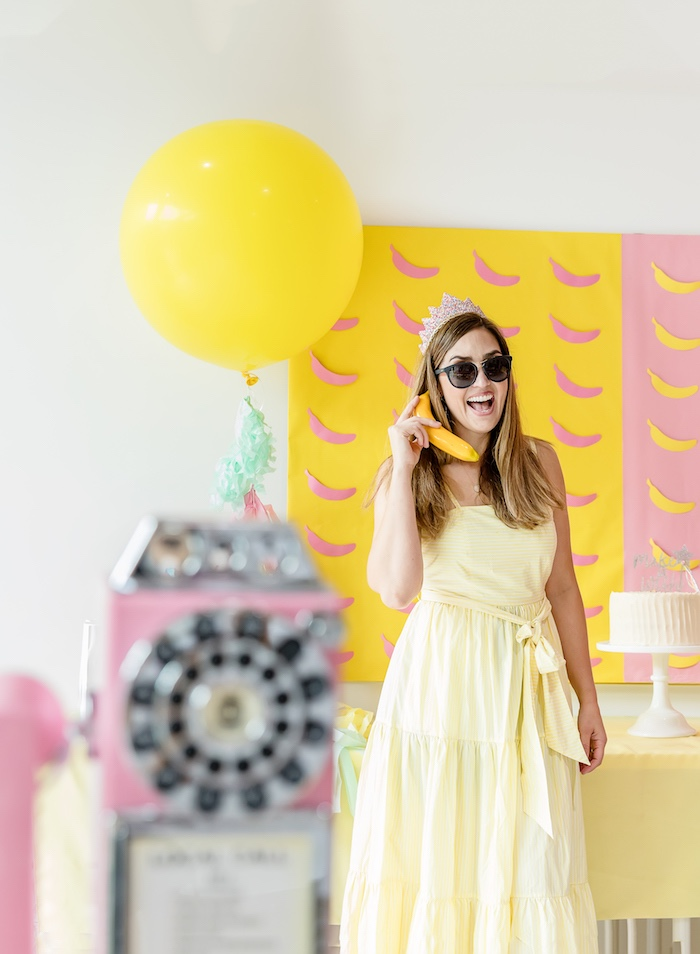 Banana Backdrop from a Museum of Ice Cream Inspired Birthday Party on Kara's Party Ideas | KarasPartyIdeas.com (13)