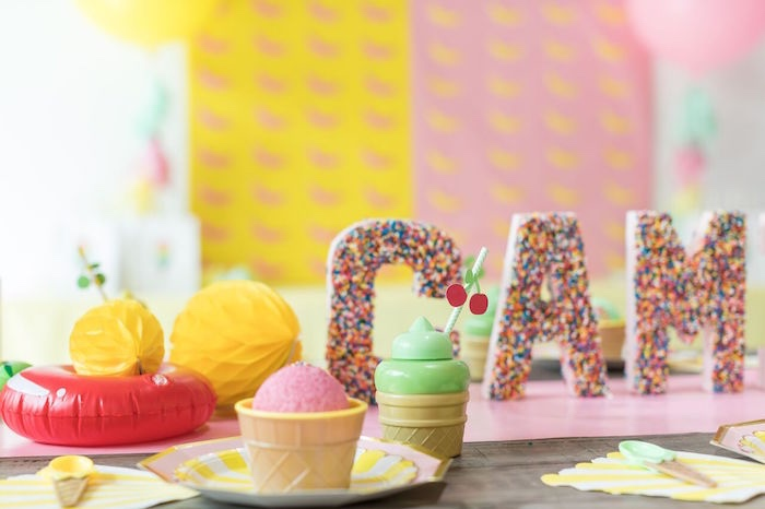 Ice Cream Table Setting from a Museum of Ice Cream Inspired Birthday Party on Kara's Party Ideas | KarasPartyIdeas.com (12)