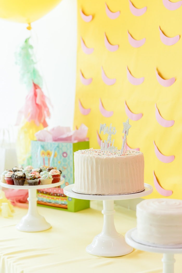 White Sprinkled Cake from a Museum of Ice Cream Inspired Birthday Party on Kara's Party Ideas | KarasPartyIdeas.com (11)