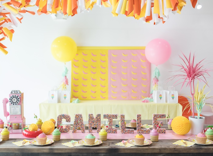Ice Cream Party Tables from a Museum of Ice Cream Inspired Birthday Party on Kara's Party Ideas | KarasPartyIdeas.com (10)