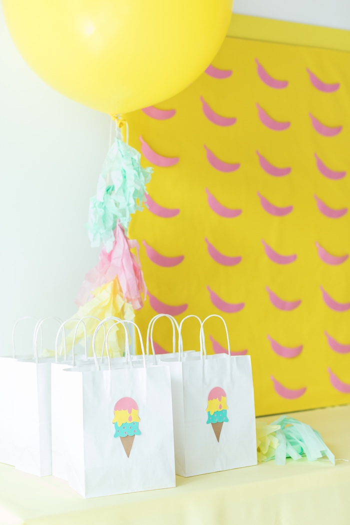 Ice Cream Cone Favor Bags from a Museum of Ice Cream Inspired Birthday Party on Kara's Party Ideas | KarasPartyIdeas.com (7)