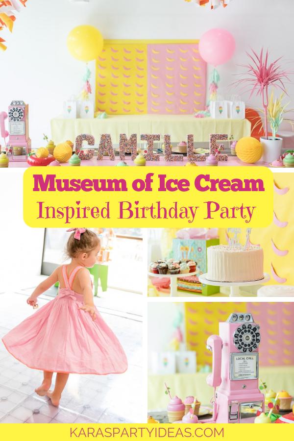 Museum of Ice-Cream Inspired Birthday Party via Kara's Party Ideas - KarasPartyIdeas.com