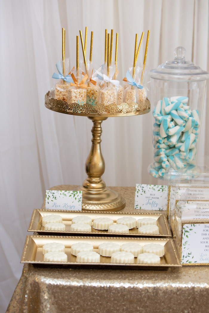 Sweet Table Detail from an Oh Baby! Glamorous Garden Baby Shower on Kara's Party Ideas | KarasPartyIdeas.com (14)