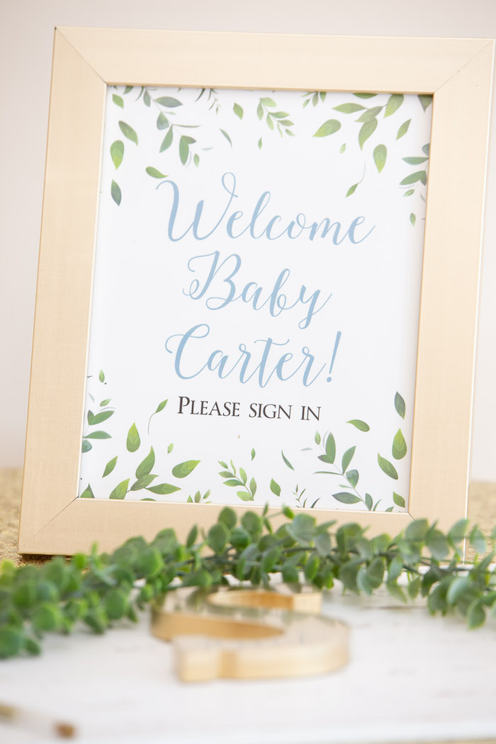 Welcome Baby Garden Print from an Oh Baby! Glamorous Garden Baby Shower on Kara's Party Ideas | KarasPartyIdeas.com (11)