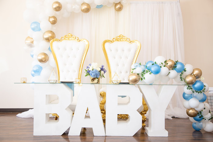 Baby - Head Table from an Oh Baby! Glamorous Garden Baby Shower on Kara's Party Ideas | KarasPartyIdeas.com (10)