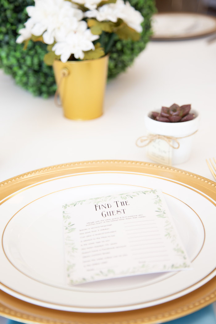 Find the Guest Table Setting from an Oh Baby! Glamorous Garden Baby Shower on Kara's Party Ideas | KarasPartyIdeas.com (9)
