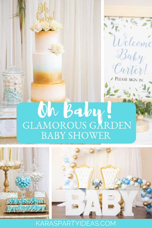 Oh Baby! Glamorous Garden Baby Shower via Kara's Party Ideas - KarasPartyIdeas.com