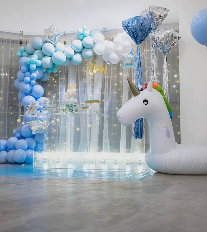 Pastel Blue & Turquoise Unicorn Party on Kara's Party Ideas | KarasPartyIdeas.com (4)