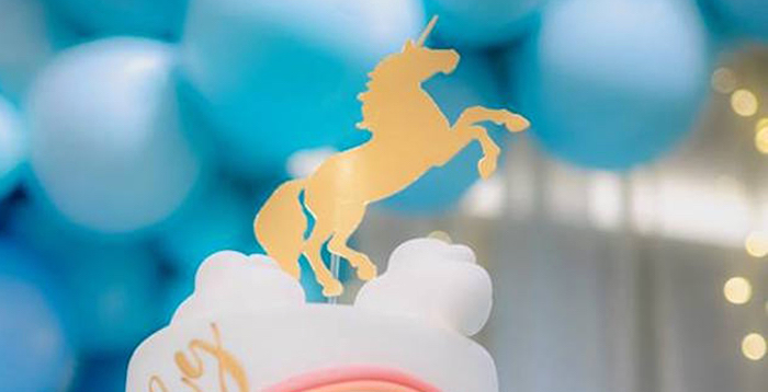 Pastel Blue & Turquoise Unicorn Party on Kara's Party Ideas | KarasPartyIdeas.com (2)