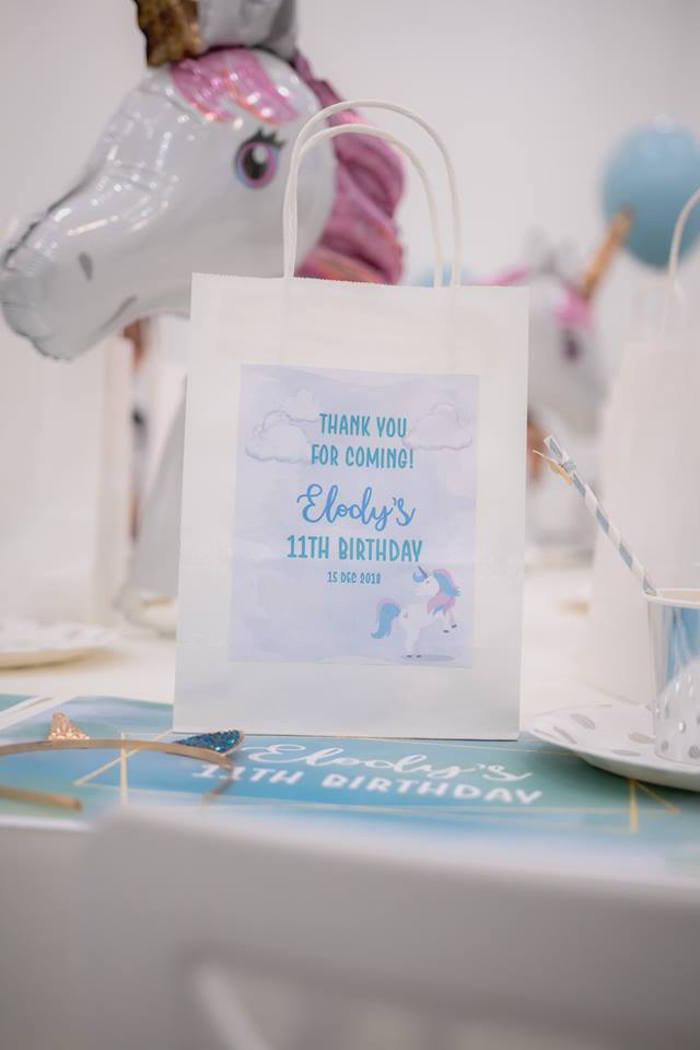 Unicorn Favor Bag from a Pastel Blue & Turquoise Unicorn Party on Kara's Party Ideas | KarasPartyIdeas.com (16)