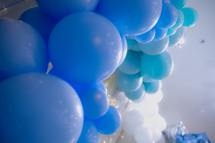 Blue Balloon Backdrop + Installation from a Pastel Blue & Turquoise Unicorn Party on Kara's Party Ideas | KarasPartyIdeas.com (12)