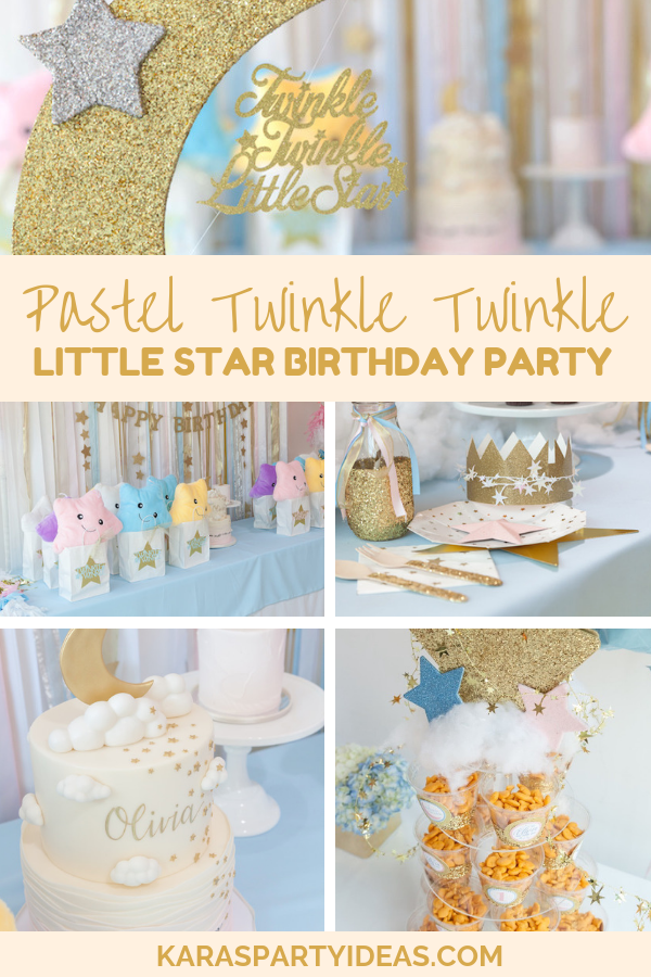 Twinkle Twinkle Little Star One Little Star Boy Birthday Party Supplies Banner