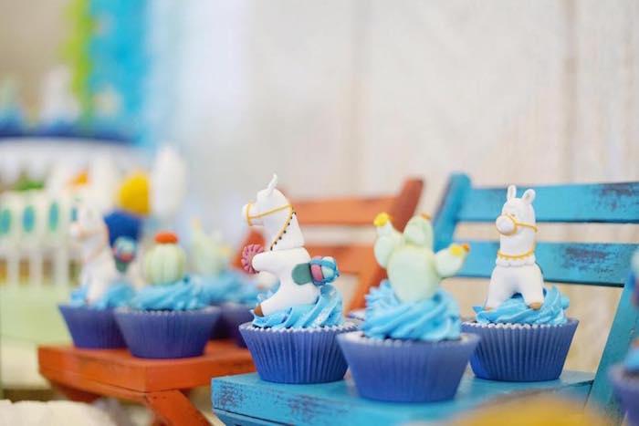 Llama Cupcakes from a Peruvian Llama Birthday Party on Kara's Party Ideas   KarasPartyIdeas.com (19)