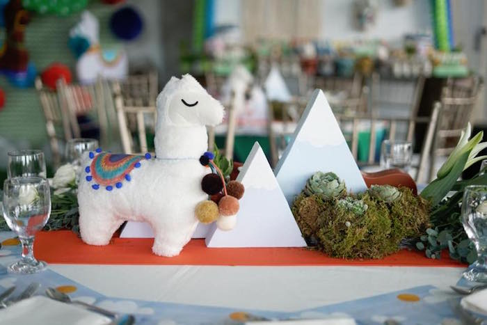 Mountain Range Table Centerpiece from a Peruvian Llama Birthday Party on Kara's Party Ideas   KarasPartyIdeas.com (18)