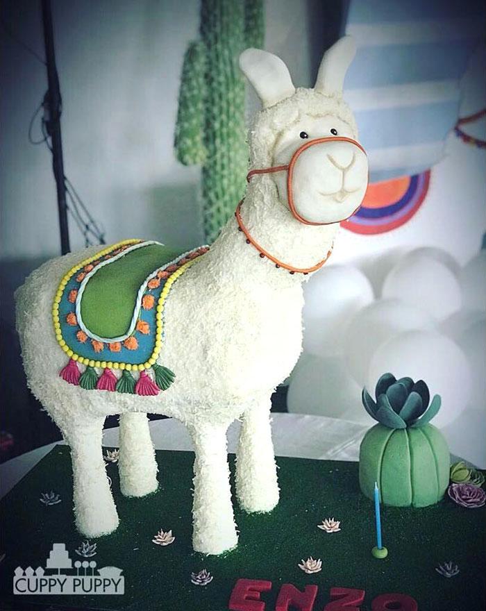Llama Cake from a Peruvian Llama Birthday Party on Kara's Party Ideas   KarasPartyIdeas.com (17)