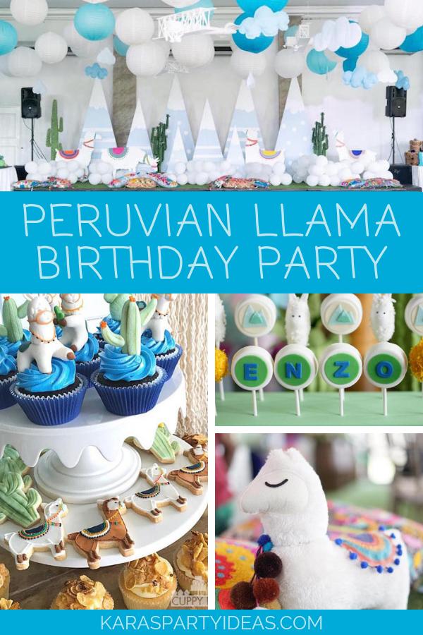 Peruvian Llama Birthday Party via Kara's Party Ideas - KarasPartyIdeas.com