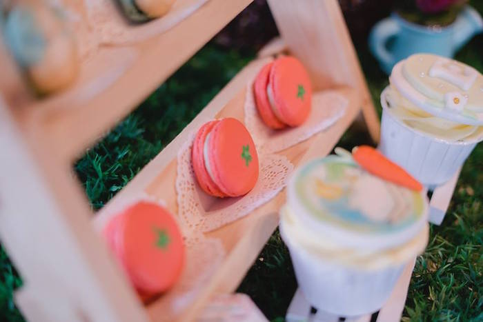 Tomato Macarons from a Peter Rabbit Birthday Party on Kara's Party Ideas | KarasPartyIdeas.com (11)