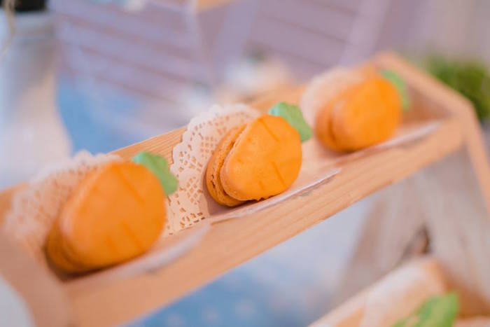 Carrot Shaped Macarons from a Peter Rabbit Birthday Party on Kara's Party Ideas | KarasPartyIdeas.com (9)