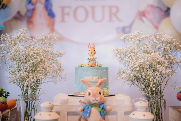 Peter Rabbit Cake Table from a Peter Rabbit Birthday Party on Kara's Party Ideas | KarasPartyIdeas.com (22)